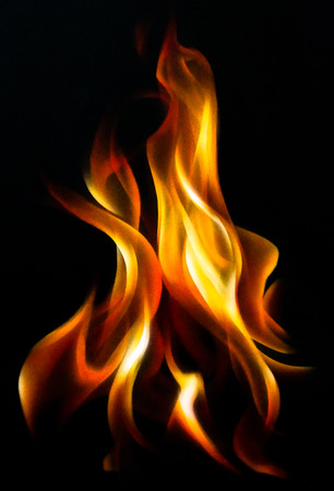 Fire flame. Airbrush painting Stock Photo