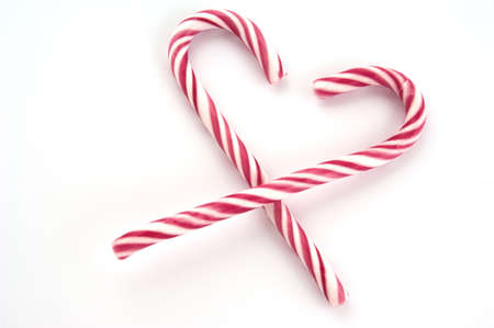 Red and white striped Christmas candy canes