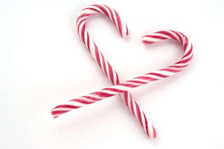 Rot-wei� gestreiften Weihnachten Zuckerstangen Lizenzfreie Bilder