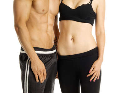 Fitness image of a man and woman photo