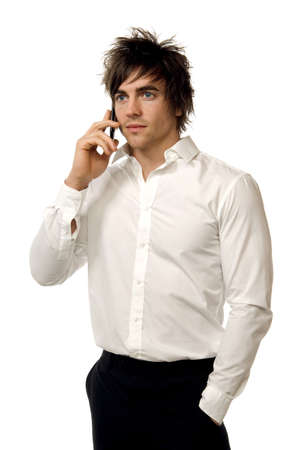 Young man in a shirt isolated on a white background Stock Photo - 14896699