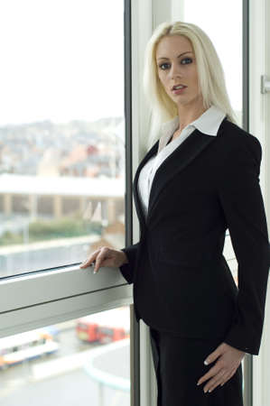 Beautiful, blonde business woman photo
