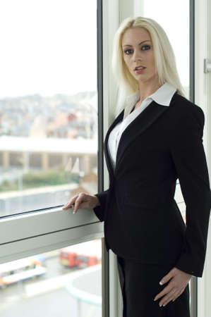 Beautiful, blonde business woman