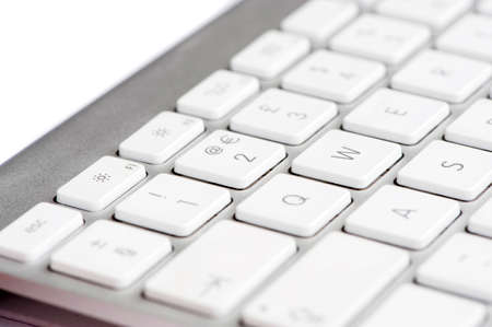 Apple mac white Keyboard focused on the number 2 photo