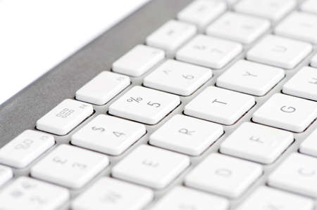 Apple mac white Keyboard focused on the number 5 photo