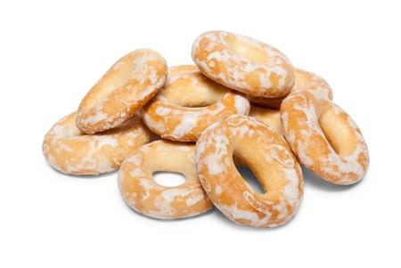 baranka: bread ring (baranka) isolated on white background Stock Photo