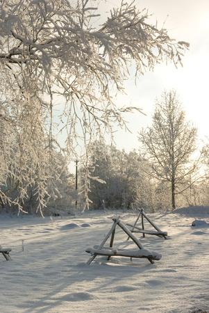 Rural winter landscape photo