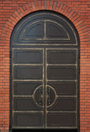 Old metal door photo
