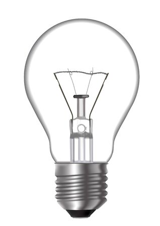 incandescent: Incandescent lamp on white background