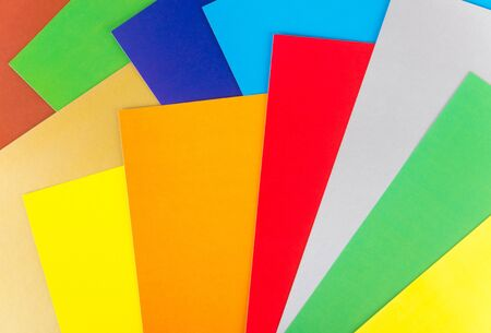 Background is made up of several colored paper sheets