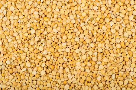 shelled: Horizontal background of shelled dried peas, top view Stock Photo