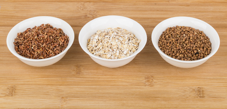 carbs: Cereals useful source of slow carbs in glass bowl