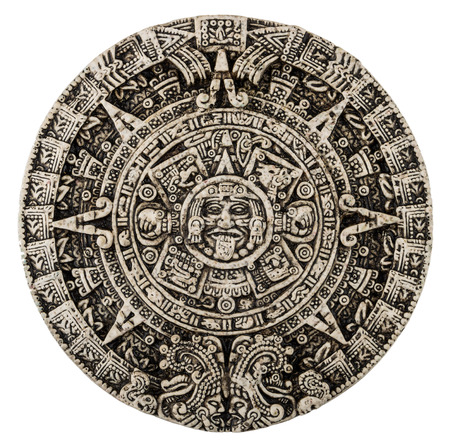 mayan prophecy: The mayan calendar isolated on white background