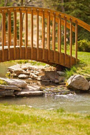 Bridge over a small stream  photo