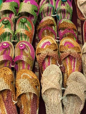 sandalias: Sandalias de playa Foto de archivo