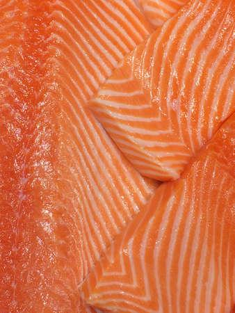 salmon fillet: Fresh raw salmon fillet Stock Photo