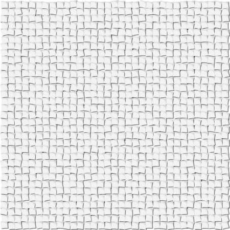 Abstract from small white squares with shadows