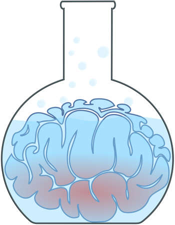 experimenting: Blue brain in the laboratory flask