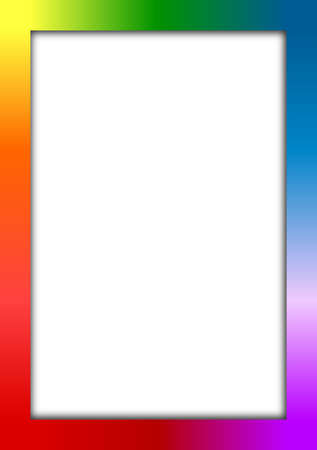 colorful frame: Colorful frame with place for text or picture