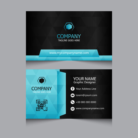Modern business card with blue gray color