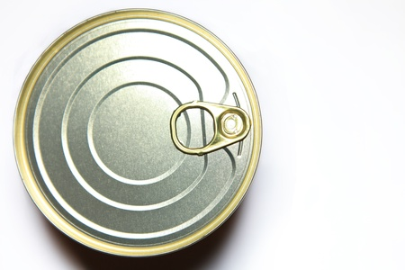 Caviar tincan  on the white background