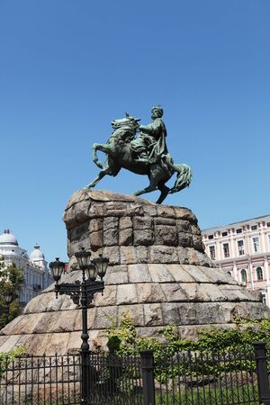 Bohdan Khmelnytsky Monument in Kiev on Sofias Square, UKRAINE