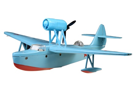 Army Flying Boat left front Stock Photo