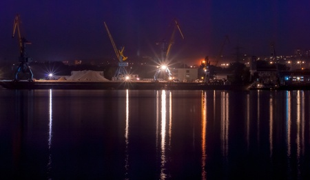 Ukraine, Dniprodzerzhynsk City   Cargo  Port on the Dnieper river