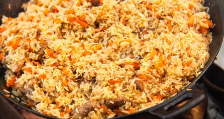Pilaf  Plov  - Afghan, Uzbek, Tajik national cuisine main dish