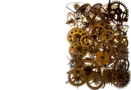 a watchman: Old watch gears background