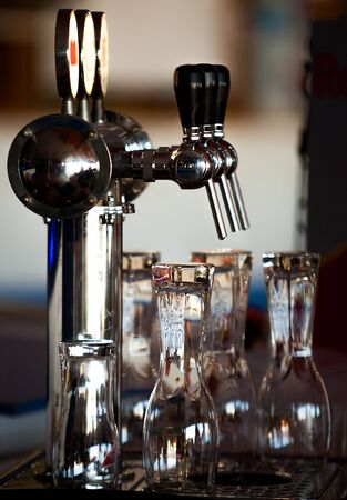 Beer tap in the bar