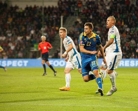 Zilina, Slovakia -  SEPTEMBER 8: Artem Kravets (UKR) - ukrainian national soccer team player  during a UEFA EURO 2016   Slovakia - Ukraine match on September 8, 2015 in Zilina, Slovakia.