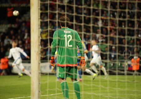 Zilina, Slovakia -  SEPTEMBER 8: Andriy Pyatov - ukrainian national soccer team goalkeeper player  during a UEFA EURO 2016   Slovakia - Ukraine match on September 8, 2015 in Zilina, Slovakia.