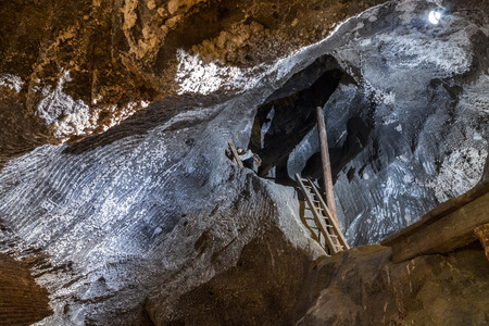 Salt chamber deep undeground - Wieliczka Salt Mine