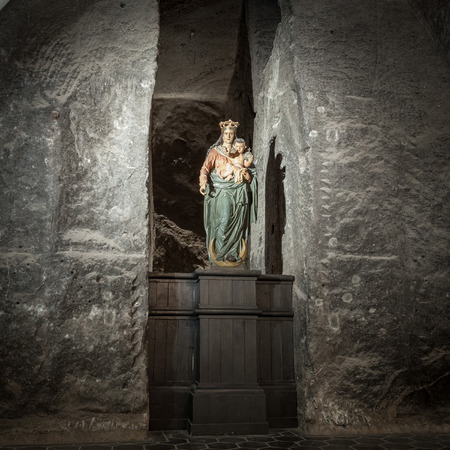 the victorious: Our Lady Victorious in The Holy Cross Chapel in  Wieliczka Salt Mine Editorial