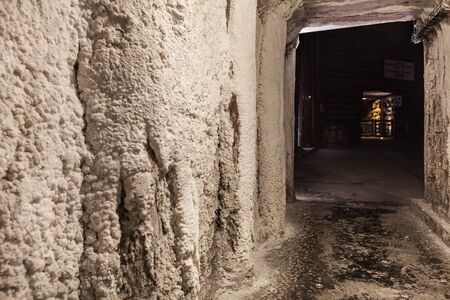 Salt miners corridors deep undeground - Wieliczka Salt Mine