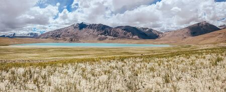 Kyagar Tso Lake panorame view Stock Photo