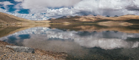 Tso Moriri Lake in Ladakh region North India Stock Photo