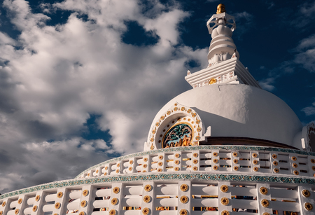 Shanti Stupa in Leh, Ladakh region, India