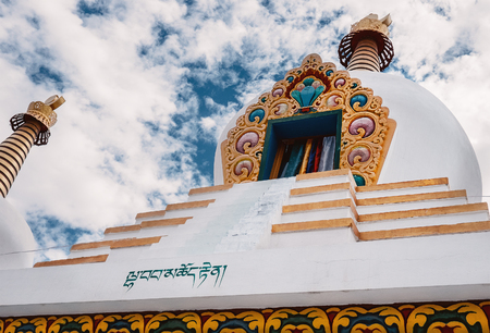 Buddhist Stupa in India in Ladakh region