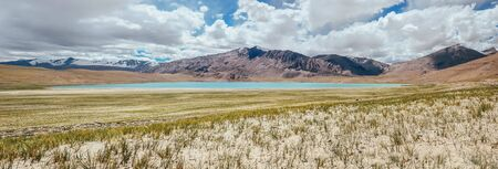 Kyagar Tso Lake panorame Ladakh region North India Stock Photo