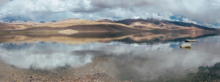 Roerich mountains on Tso Moriri Lake in Ladakh Stock Photo