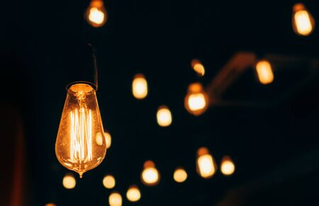 Old vintage lightbulb home decoration background