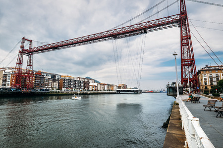 Vizcaya Bridge - is a transporter bridge that links the towns of Portugalete and Las Arenas (part of Getxo) in the Biscay province of Spain, crossing the mouth of the Nervion River