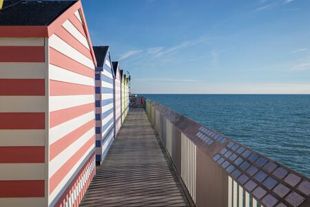 Tiny Wooden Cabins on Hastings Pier