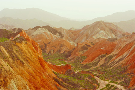 Landscape scenery view of mountain