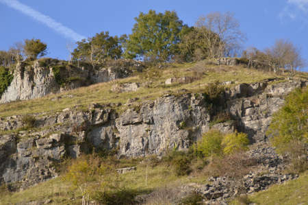 scarp: hills at cheddar gorge 2 Stock Photo
