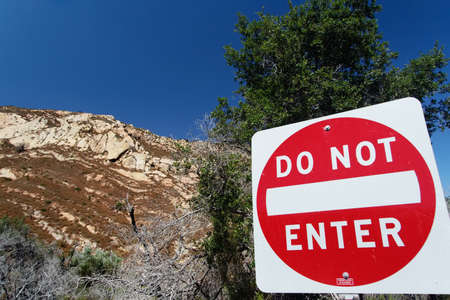 Traffic sign Do not enter in San Luis Obispo County photo