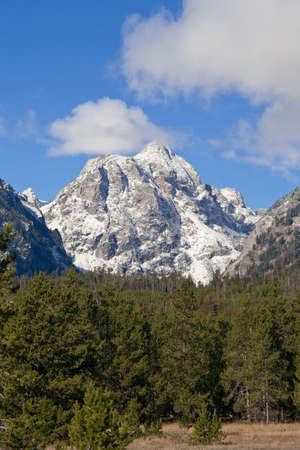 Snowcapped mountain at Grand Teton National Park, Wyoming, USA Stock Photo - 8088092