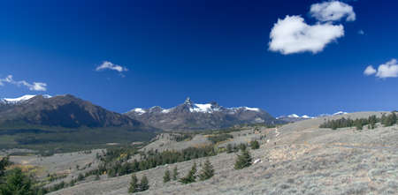 far off: Beartooth Highway: Pilot and Index Peaks Overlook Stock Photo